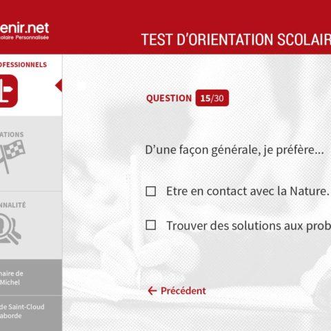 Test d'orientation scolaire TonAvenir.net